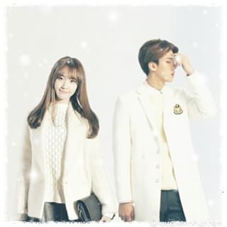 Image result for yoona sehun edit